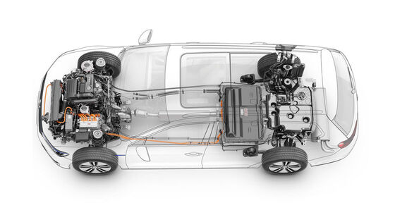 Grafik zur VW Plug-In-Hybrid-Technologie